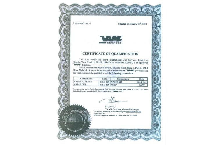 VAM EXPRESS LICENSE FOR PIN & BOX